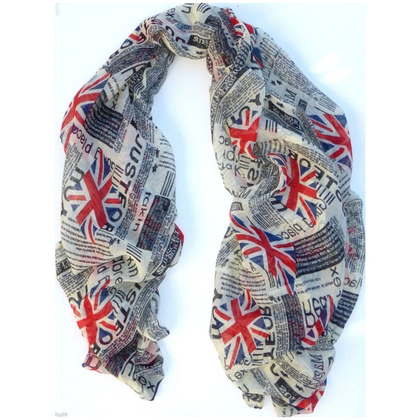 UK Newspaper Style Fashion Scarf Shawl -  -  Little British Shop - 3