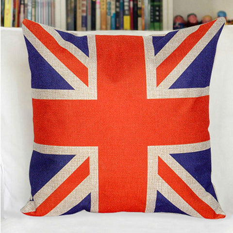 "The Anglophiles 18"" Square Union Jack Throw Sofa Case Cushion Cover -  -  Little British Shop - 1"