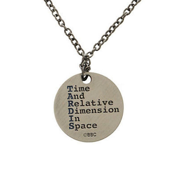 Whovian's Tardis Necklace TIME & RELATIVE DIMENSION SPACE -  -  Little British Shop - 2