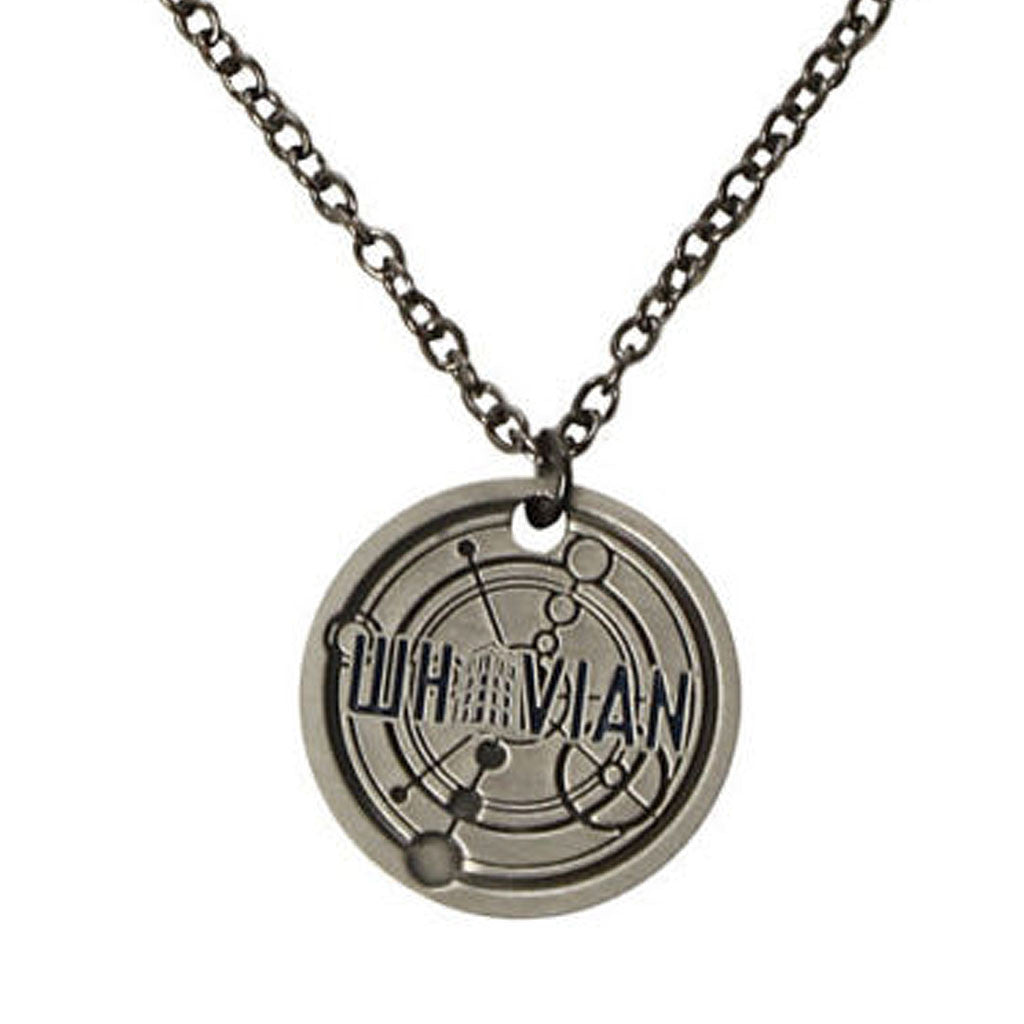 Whovian's Tardis Necklace TIME & RELATIVE DIMENSION SPACE -  -  Little British Shop - 1