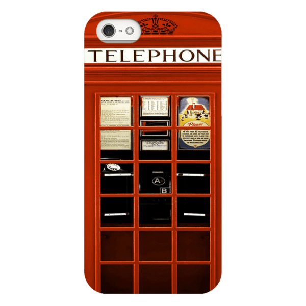 iPhone 5/5s-H.M. British Red Telephone Box - Tough Dual Layer Protected Phone Case