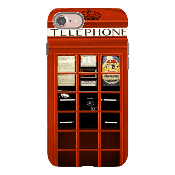 iPhone 8-H.M. British Red Telephone Box - Tough Dual Layer Protected Phone Case