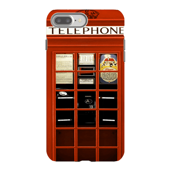 iPhone 8 Plus-H.M. British Red Telephone Box - Tough Dual Layer Protected Phone Case