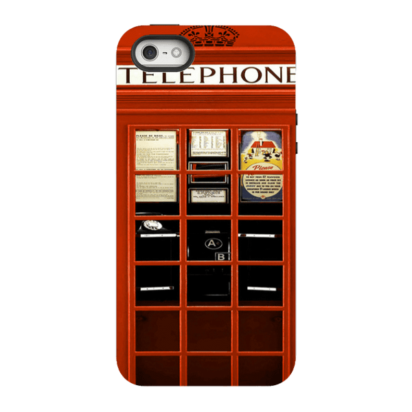 iPhone SE-H.M. British Red Telephone Box - Tough Dual Layer Protected Phone Case