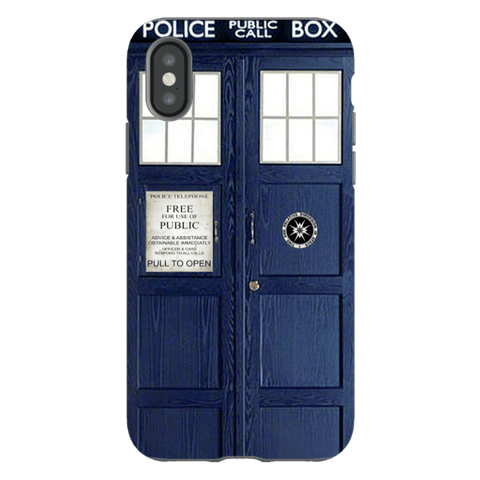 iPhone X-Doctor Who Blue Tardis Phone Case Cover