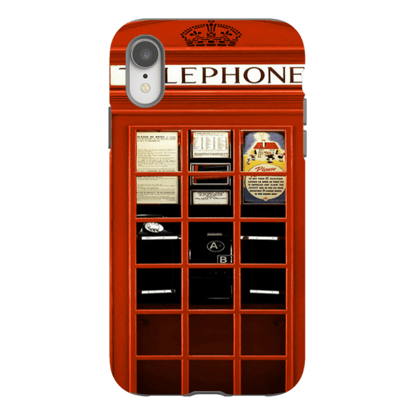 iPhone XR-H.M. British Red Telephone Box - Tough Dual Layer Protected Phone Case