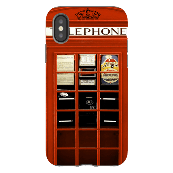 iPhone XS-H.M. British Red Telephone Box - Tough Dual Layer Protected Phone Case