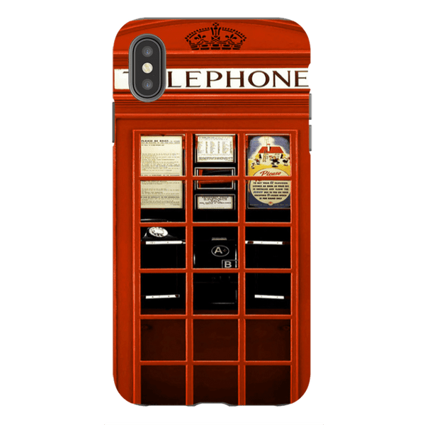 iPhone XS Max-H.M. British Red Telephone Box - Tough Dual Layer Protected Phone Case
