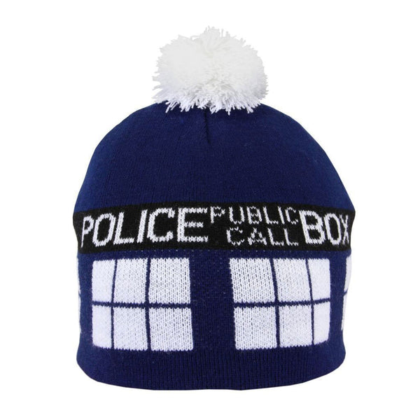 Official BBC Doctor Who Tardis Pom Beanie -  -  Little British Shop - 2