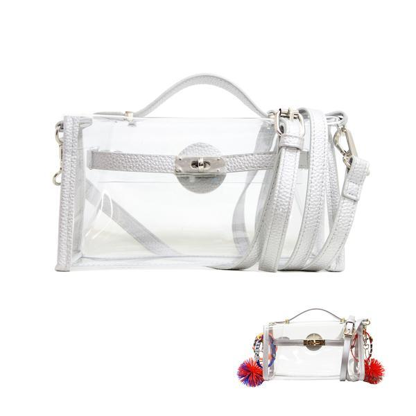 Silver Clear Game Day Stadium Bag