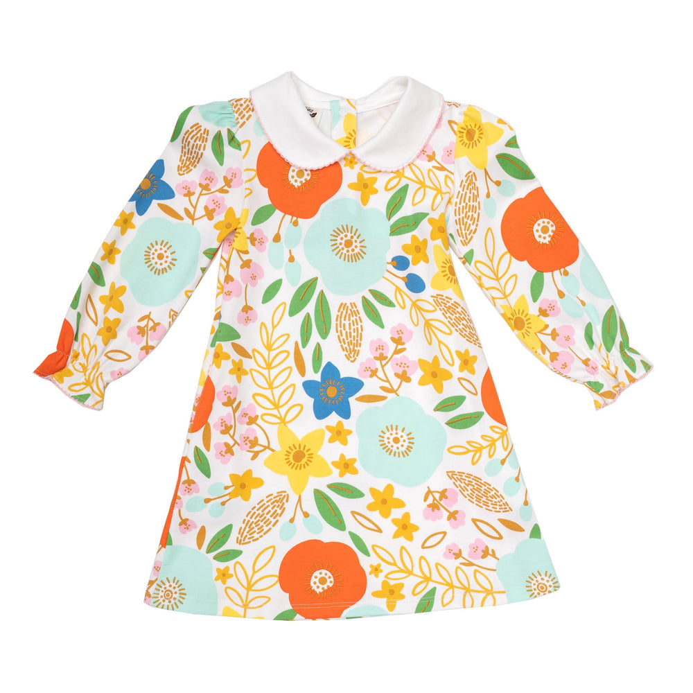 Abbie Kate Fall Print Dress made with Peruvian Pima Cotton