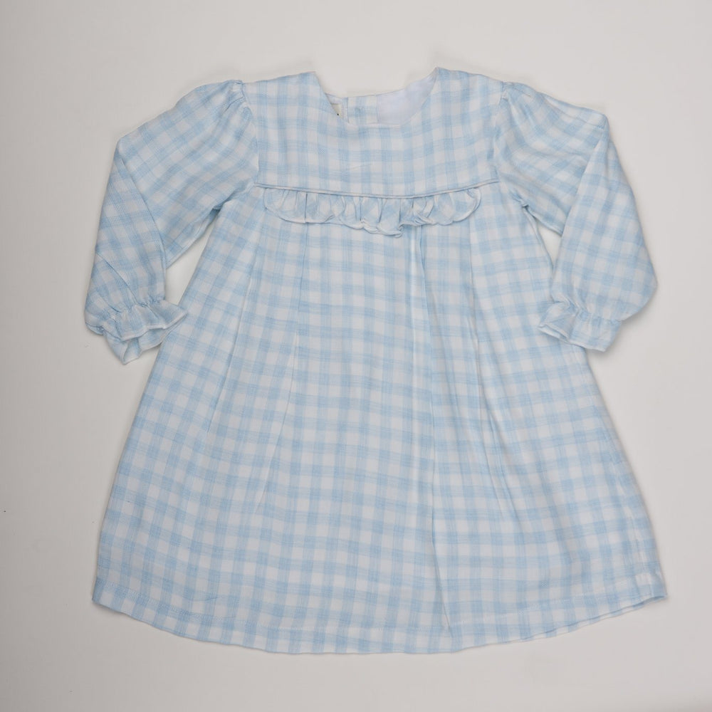 Alicia Soft Blue Check Dress