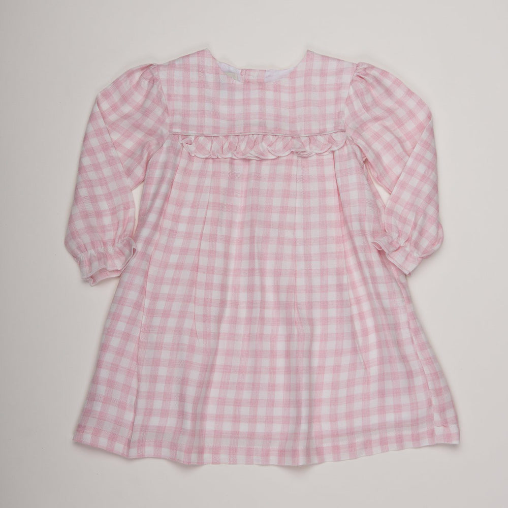 Audrey Soft Pink Check Dress
