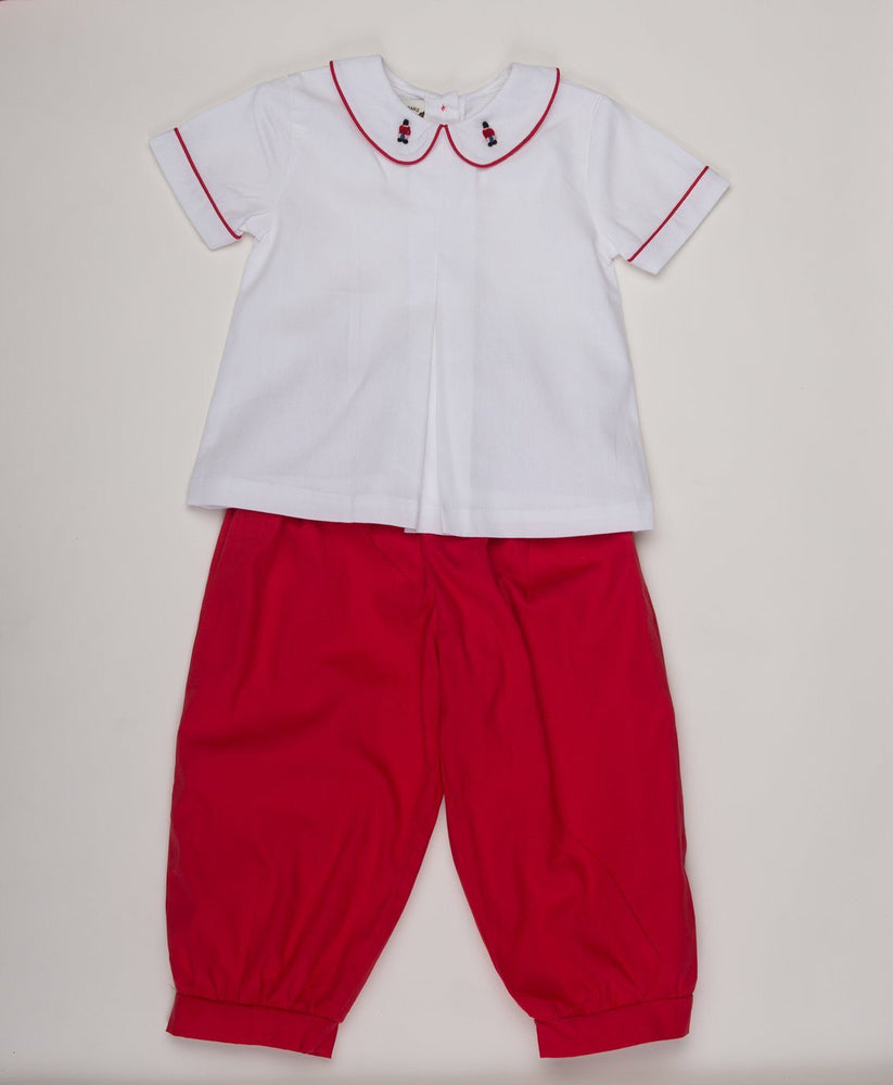 Austin Red Toy Soldier Pants Set