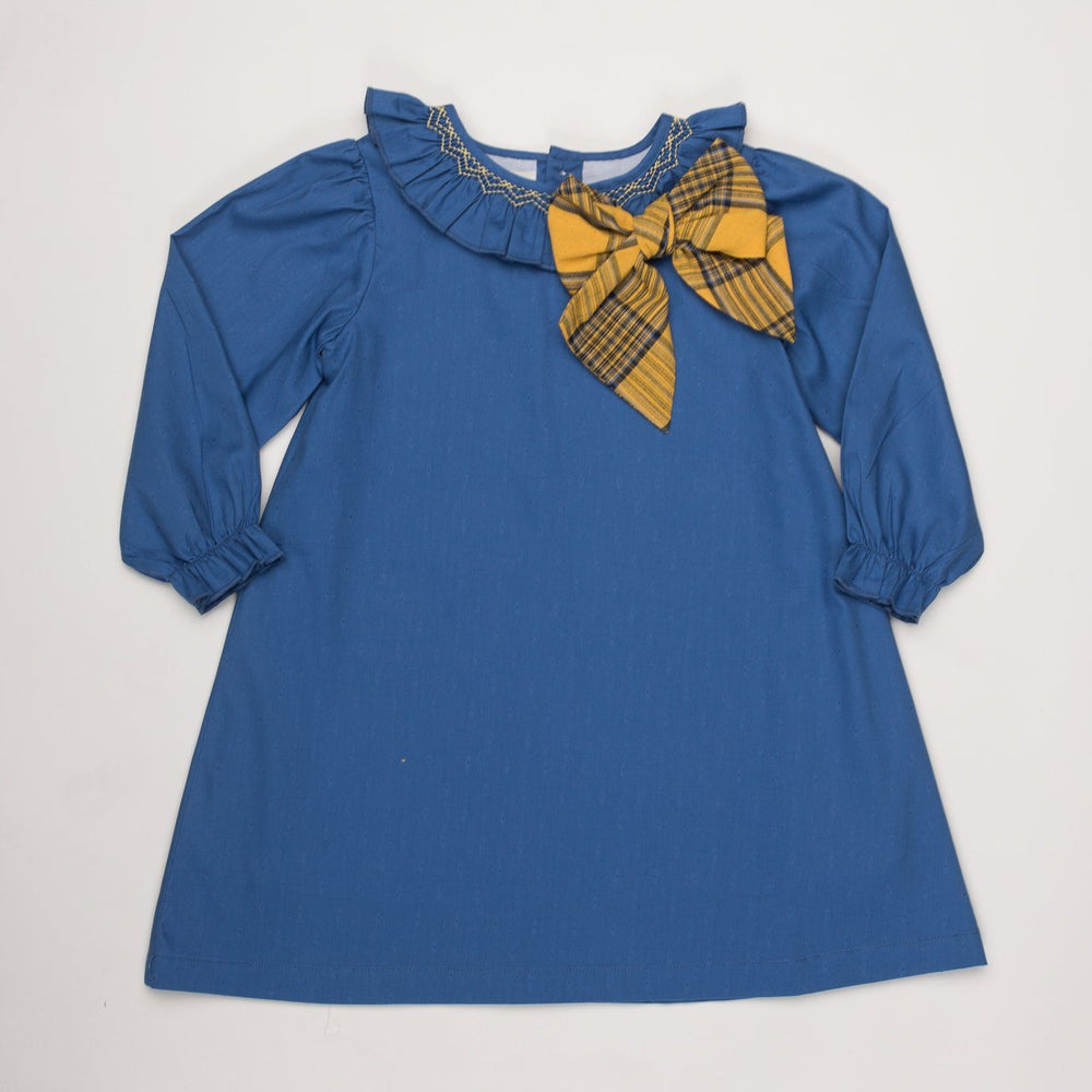 Beatrice Blue Smocked Dress