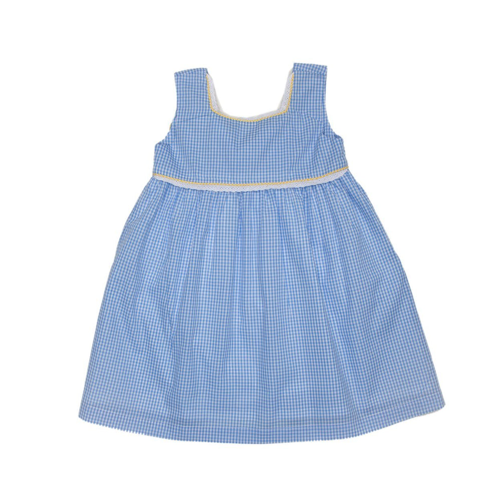 Charleston Blue Gingham Dress