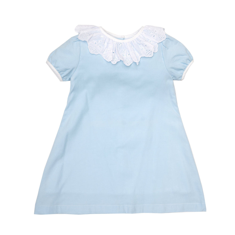 Elise Blue Lace Dress