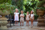Chasen Tan Linen Short Set