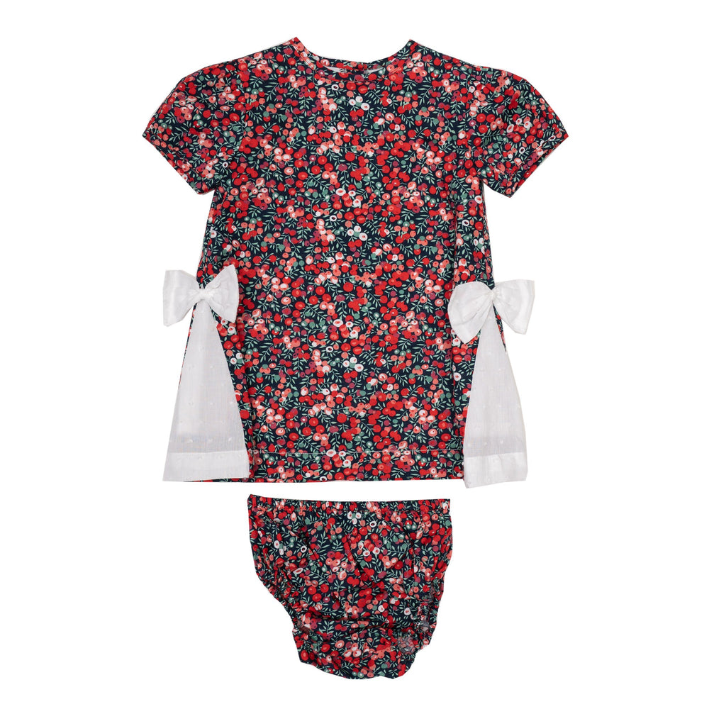 Hannah Red Floral Bloomer Set