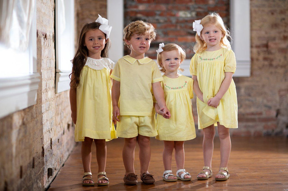 Harper Yellow Dress with Collar