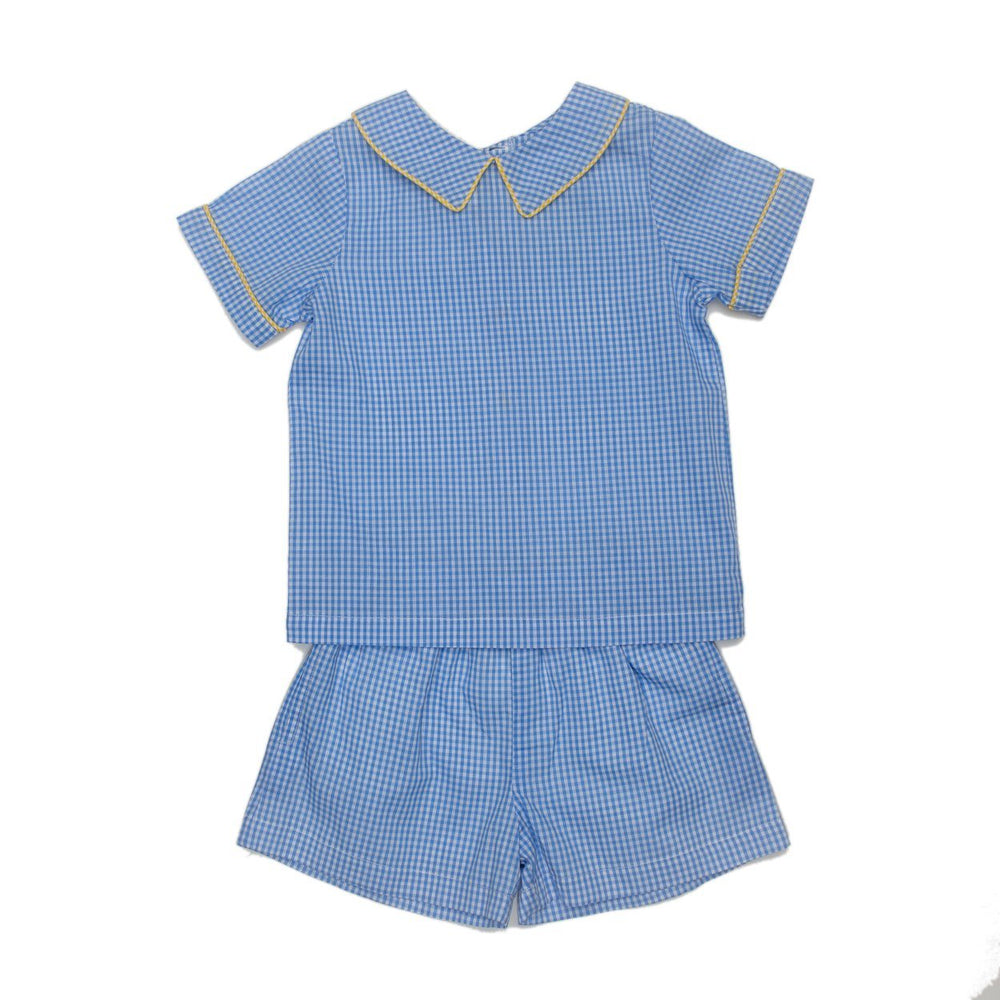 Hugo Blue Gingham Short Set