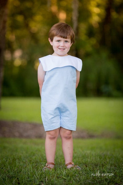 William Linen Jon Jon - Boys Blue