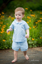 Joseph Two Piece Linen Suit for Boys -Blue-