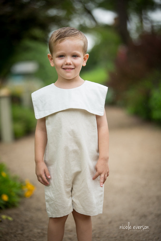 William Linen Jon Jon - Boys Natural Linen-