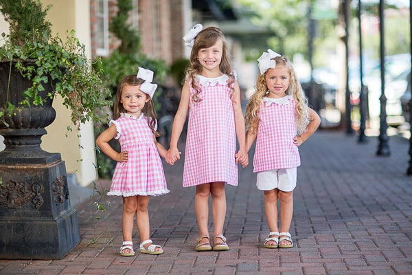 Rylee Pink Buffalo Check Dress SS18