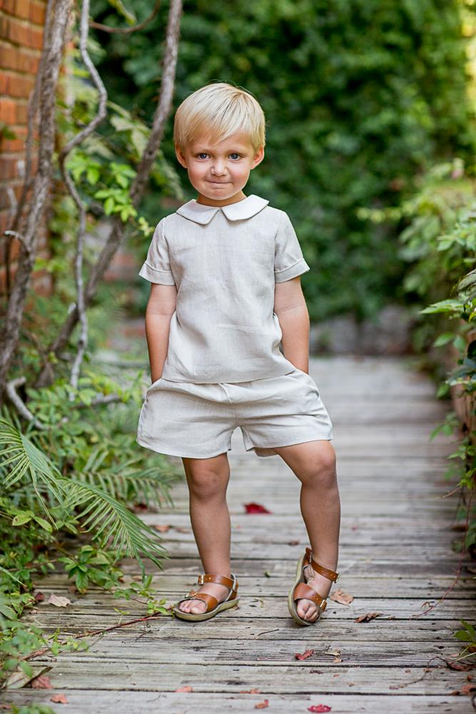 John Natural linen Boys Set SS18
