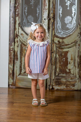 Reese Pink and Blue Stripe Shorts Set SS18-