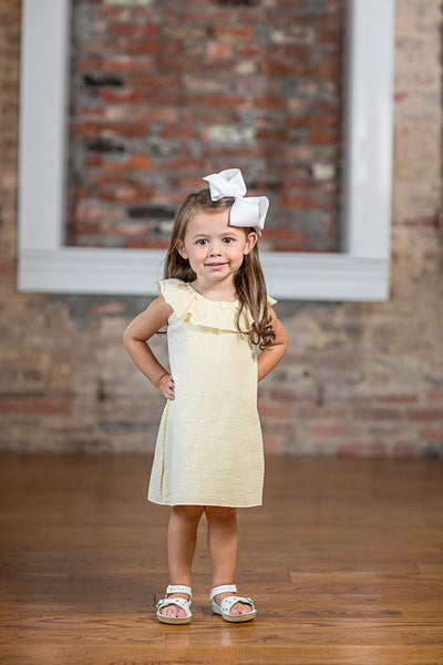 Jillian Yellow Seersucker Dress SS18-