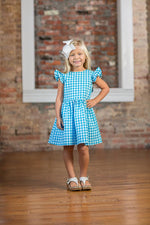 Debbie Aqua Buffalo Check Dress SS18 -