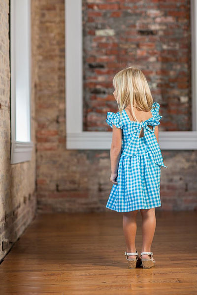 Debbie Aqua Buffalo Check Dress SS18