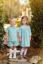 Amanda Sky Blue Cord Dress, Girls Fall18