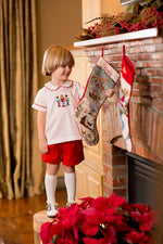 Watson Nutcracker Red Pique Short Set Christmas 18