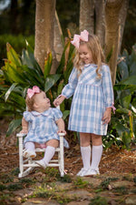 """Macey"" Blue Buffalo Check Dress, Girls Fall18 Fave"