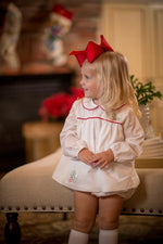 """Starla"" Shadow Embroidery Holly Bloomer Set Christmas 18"