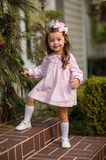 """Presley Kait"" Pink Windowpane Bloomer Set, Girls Fall18 Fave"