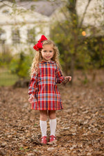 """Leigh"" Red Check Dress, Girls Fall18 Fave"