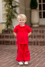 Curt Red Cord Pant Set, Boys Christmas