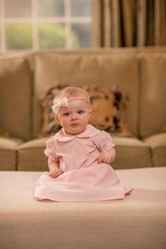 Baby girl layette gown