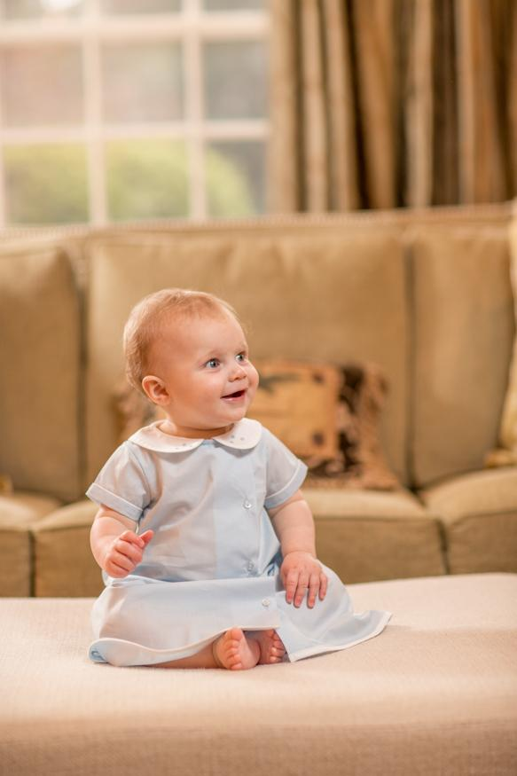 Baby blue layette gown