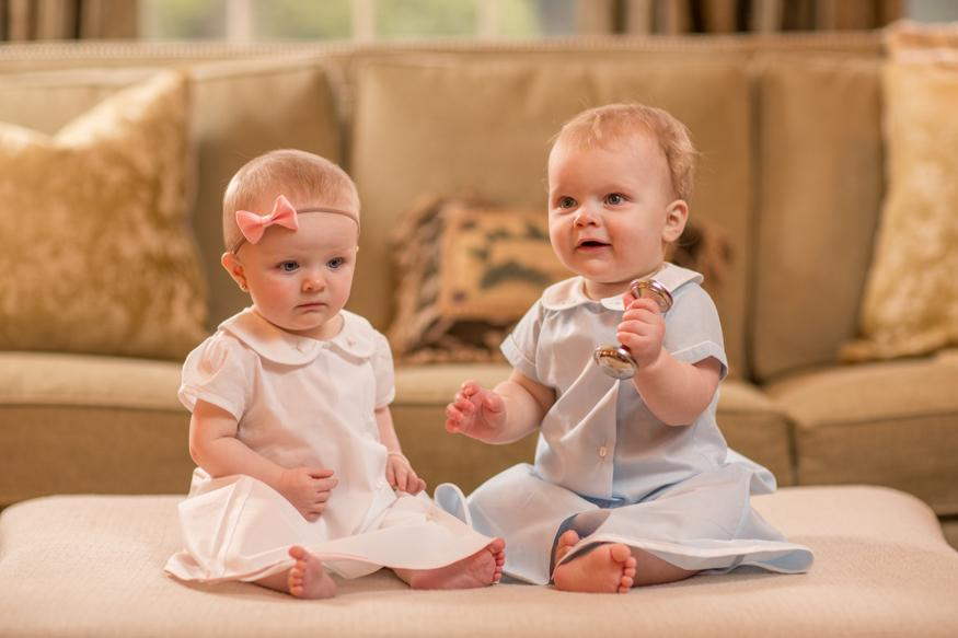 Layette gowns for boys and girls