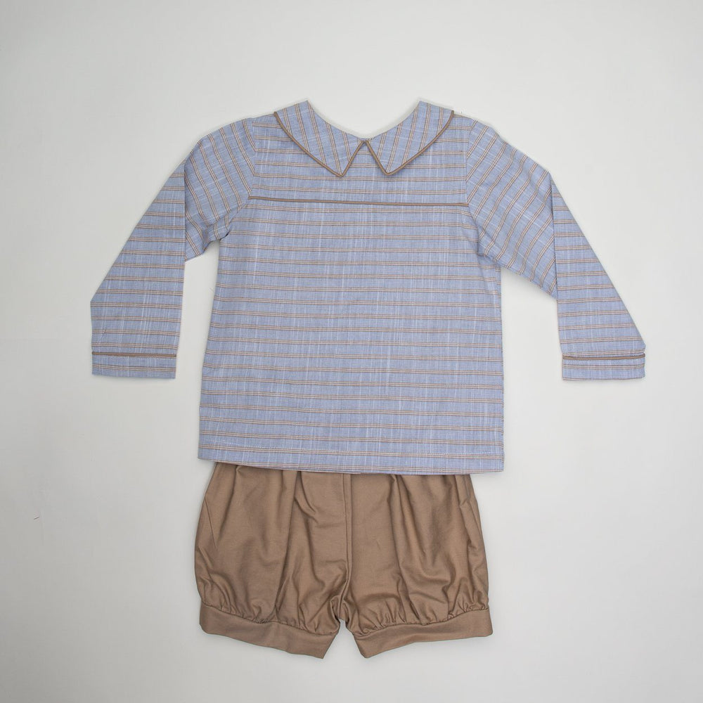Jimmy Long Sleeve Striped Short Set