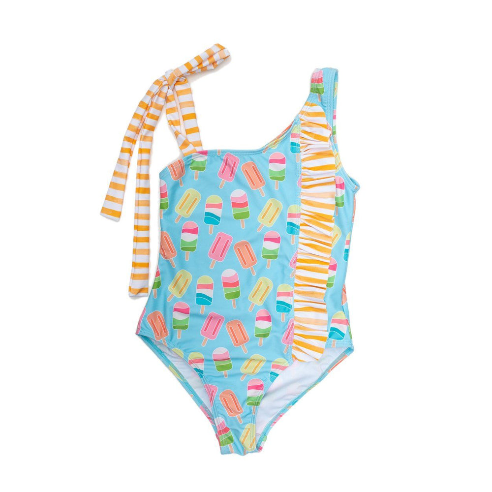 Ice Cream One Piece Tie Side Swimsuit