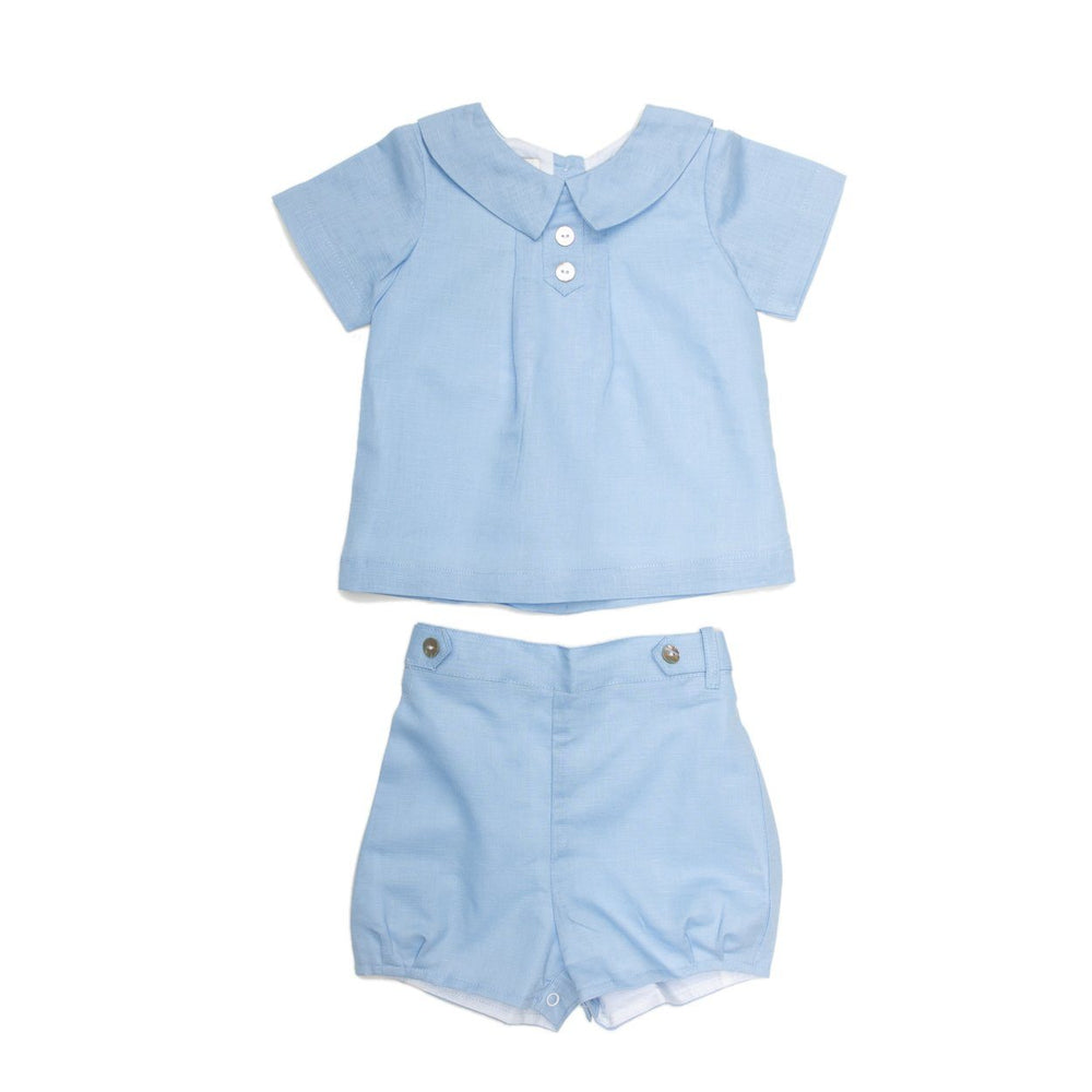 Joseph Blue Linen Short Set