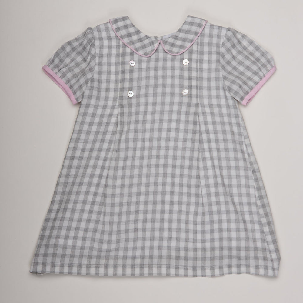 Kay Soft Grey Check Dress