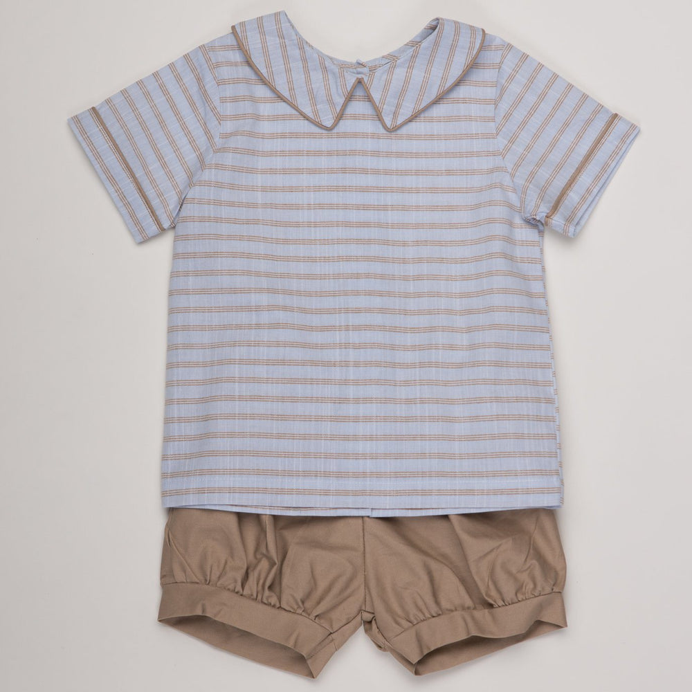 Kevin Striped Short Set