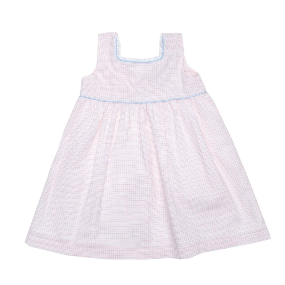 Livy Pink Windowpane Dress